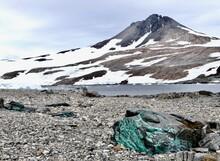 Antarctic Stone Landscape With...