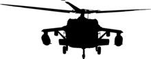 Military Helicopter  / Silhouette Vector