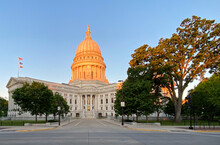 State Capitol Building At Sunr...