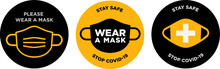 Please Wear Mask Icon Vector S...
