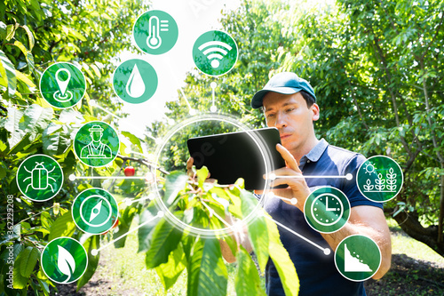 Photo Smart Farming Digital Technology Agriculture App