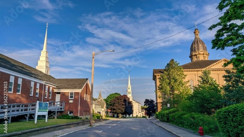 Churches of Middleboro, MA Wallpaper Mural