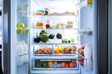 Open Refrigerator Or Fridge Door