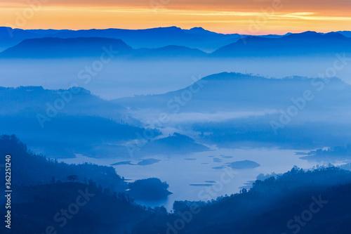 Adams Peak sunrise view Canvas Print