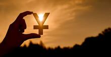 Yen Symbol In Hand Contoured A...