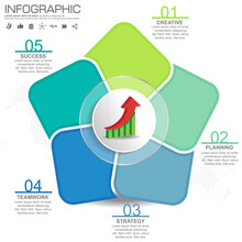 5 Parts Infographic Design Vec...