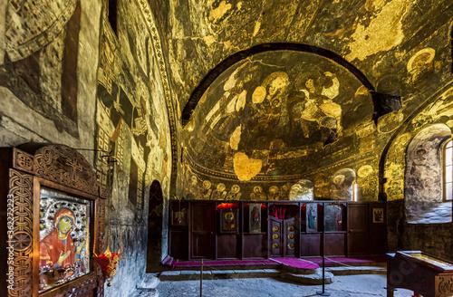 Fotografia cave monastery of Vardzia landmark of Samtskhe Javakheti region Georgia eastern