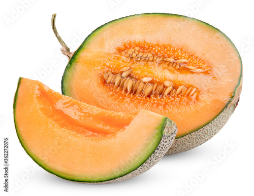 Fotografie, Obraz melon isolated on white clipping path