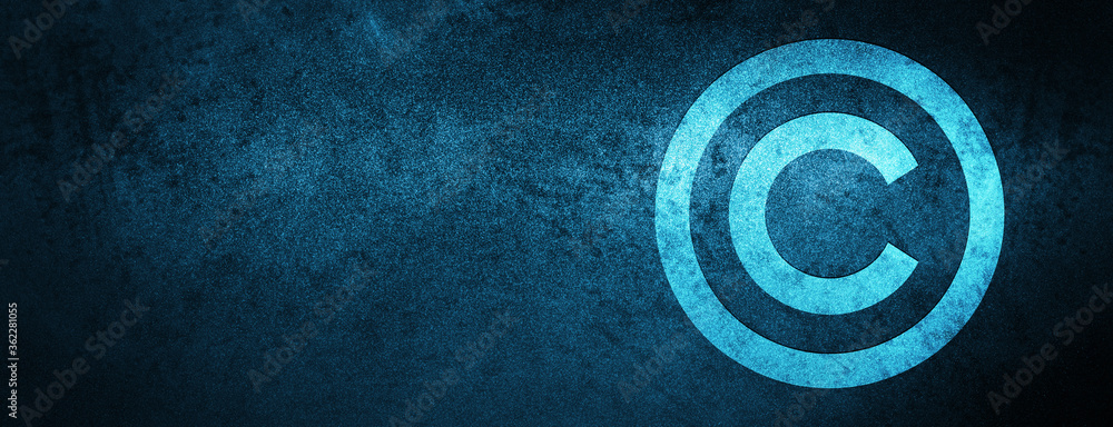 Fototapeta Copyright icon Special Blue Banner Background