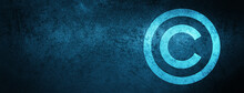 Copyright Icon Special Blue Ba...