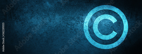 Copyright icon Special Blue Banner Background Fototapete