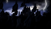 Mystery Dark Castle With Ghost...