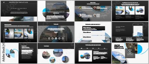 Fotografie, Tablou Presentation design vector templates, multipurpose template for presentation slide, flyer, brochure cover design with abstract circle banners
