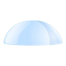 Drop Protective Glass Icon. Ca...