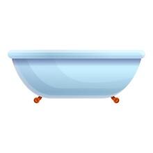 Water Bathtub Icon. Cartoon Of...