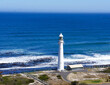 canvas print picture - lighthouse on the coast of South Africa
