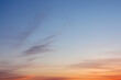 canvas print picture - Blue Sky Photo View Background. Red and blue sky at sunset
