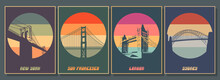 Most Famouse Bridges Poster Se...