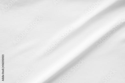 Fototapeta White fabric smooth texture surface background obraz na płótnie