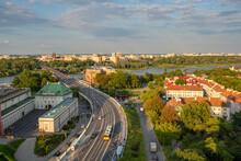 Beautiful Warsaw Cityscape Wit...