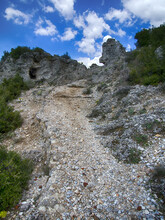 Turkish Tourism Trail In District Of Mugla. Kariya Path, Stone Staircase Up. Trail Embossed Millions Of Feet Of Donkeys, Mules, People For Thousands Of Years Of Existence, Ancient Road, Caravan Track