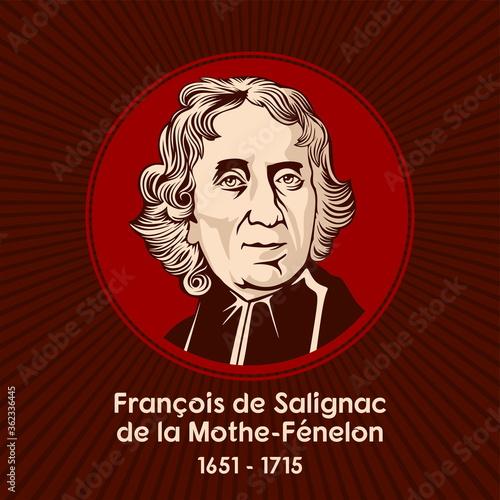 Fotografiet François de Salignac de la Mothe-Fénelon (1651 - 1715), was a French Roman Catholic archbishop, theologian, poet and writer
