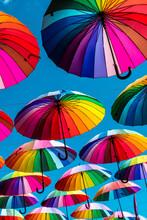 Colorful Umbrellas.  Rainbow U...