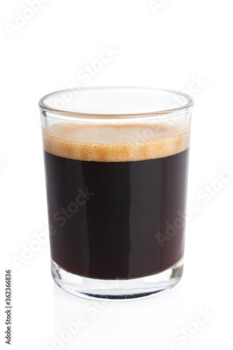 Espresso, coffee shot, espresso shot, on white background, macro photo фототапет