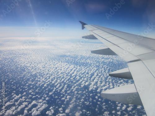 Wolken Himmel Flugzeug Luft Canvas Print