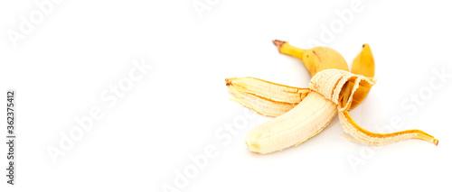 Valokuvatapetti Bad banana isolated on white background