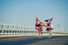 Two Teenage Girls Perform An A...