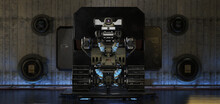 Smart Warrior Bot. Military Dr...