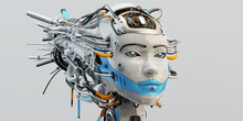 Stylish Wired Head Of Beautifu...