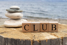 The Word Club From Wooden Cube...