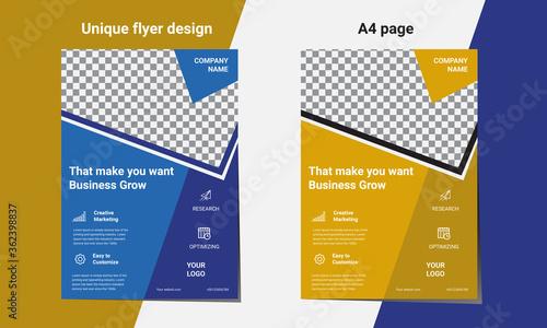 Flyers design template vector Wallpaper Mural