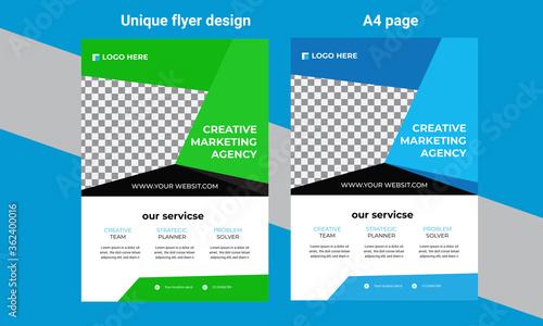 Photo Business brochure flyer design a4 template