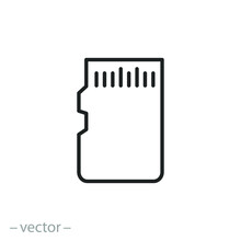 Micro Sd Card Icon, Adapter Fo...