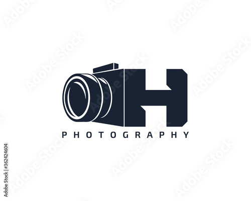 Fototapeta Initial Letter H Camera photography filmmaker logo design