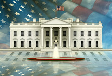 North View Of The White House,...