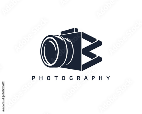 Foto Initial Letter W Camera photography filmmaker logo design