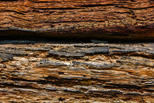 Texture Of The Logs Damaged By...