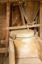 Inside View Of A Watermill Wit...