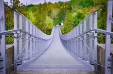Ranney Gorge Suspension Bridge In Campbellford, Ontario, Canada