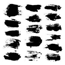 Black Abstract Brush Strokes I...