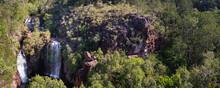 Aerial Panoramic View Of Water...