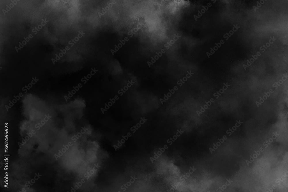 Fototapeta dark black dramatic smoke realistic dust and smoke effect overlay black smoke