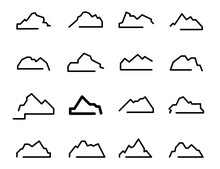 Mountain Icons, Mountains Icon...