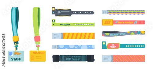 Fotografija Control bracelets plastic template set