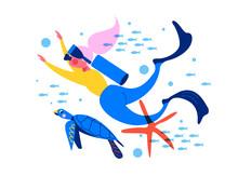 Diving. Extreme Sport. Underwa...