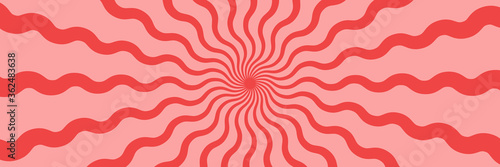 Vector abstract background with wavy stripes Wallpaper Mural